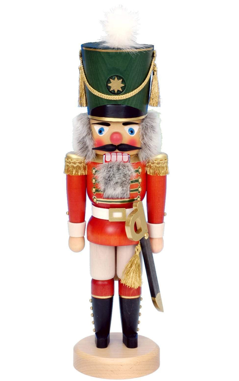 "Nutcracker - Red Soldier - 17""H x 5.5""W x 5""D - German Cuckoo Clocks"
