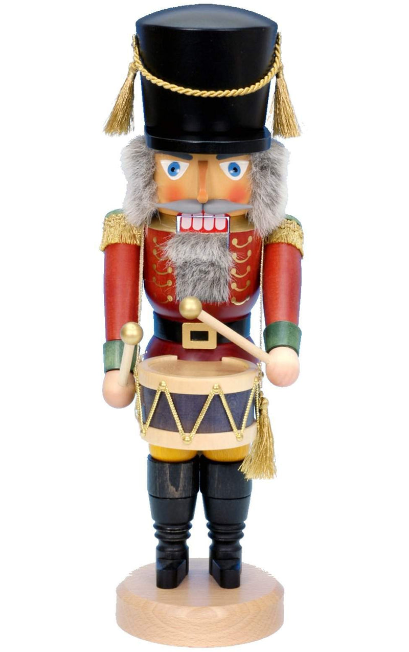 "Nutcracker - Red Drummer - 15.75""H x 5.5""W x 6""D - German Cuckoo Clocks"