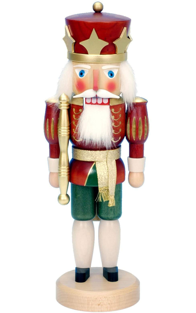 "Nutcracker - Red King - 15""H x 5.5""W x 5""D - German Cuckoo Clocks"