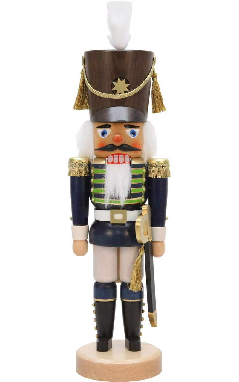 "Nutcracker - Blue Soldier - 17""H x 5.25""W x 5""D - German Cuckoo Clocks"