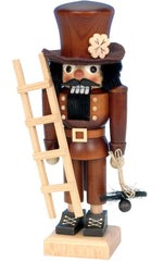 "Nutcracker - Chimney Sweep (Natural) - 10.5""H x 5""W x 3.25""D - German Cuckoo Clocks"