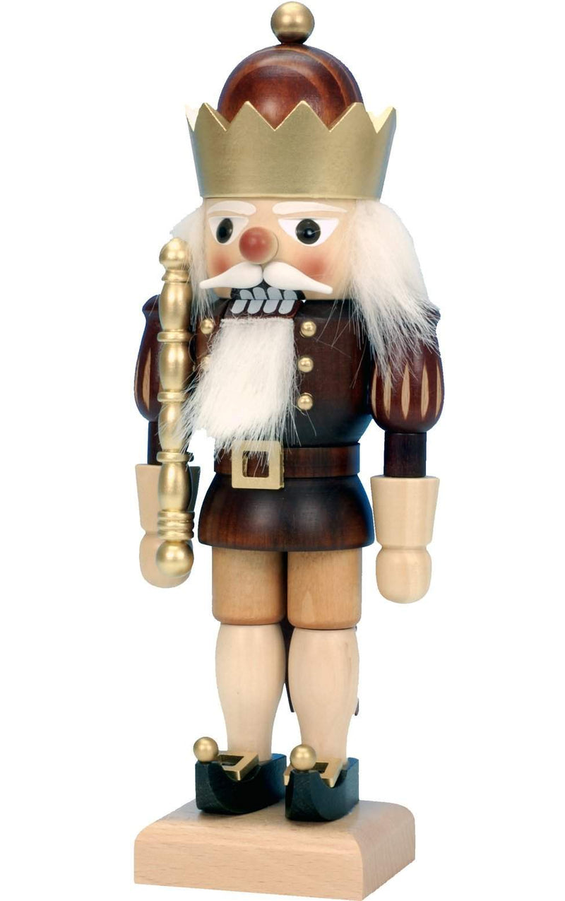 "Nutcracker - King (Natural) - 10.5""H x 4""W x 3""D - German Cuckoo Clocks"