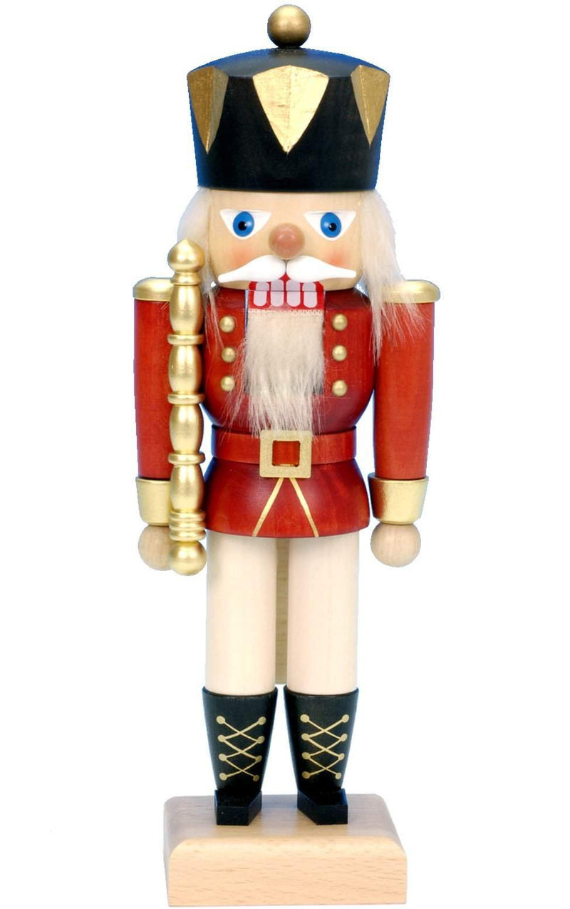 "Nutcracker - Red King - 10.5""H x 4""W x 3""D - German Cuckoo Clocks"