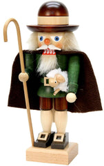 "Nutcracker - Shepherd - 10""H x 5""W x 3.5""D - German Cuckoo Clocks"