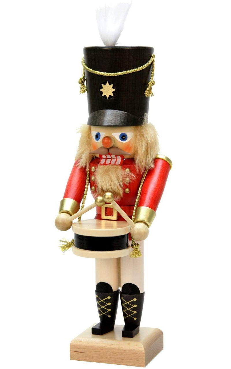 "Nutcracker - Red Drummer - 11.5""H x 4""W x 4.25""D - German Cuckoo Clocks"