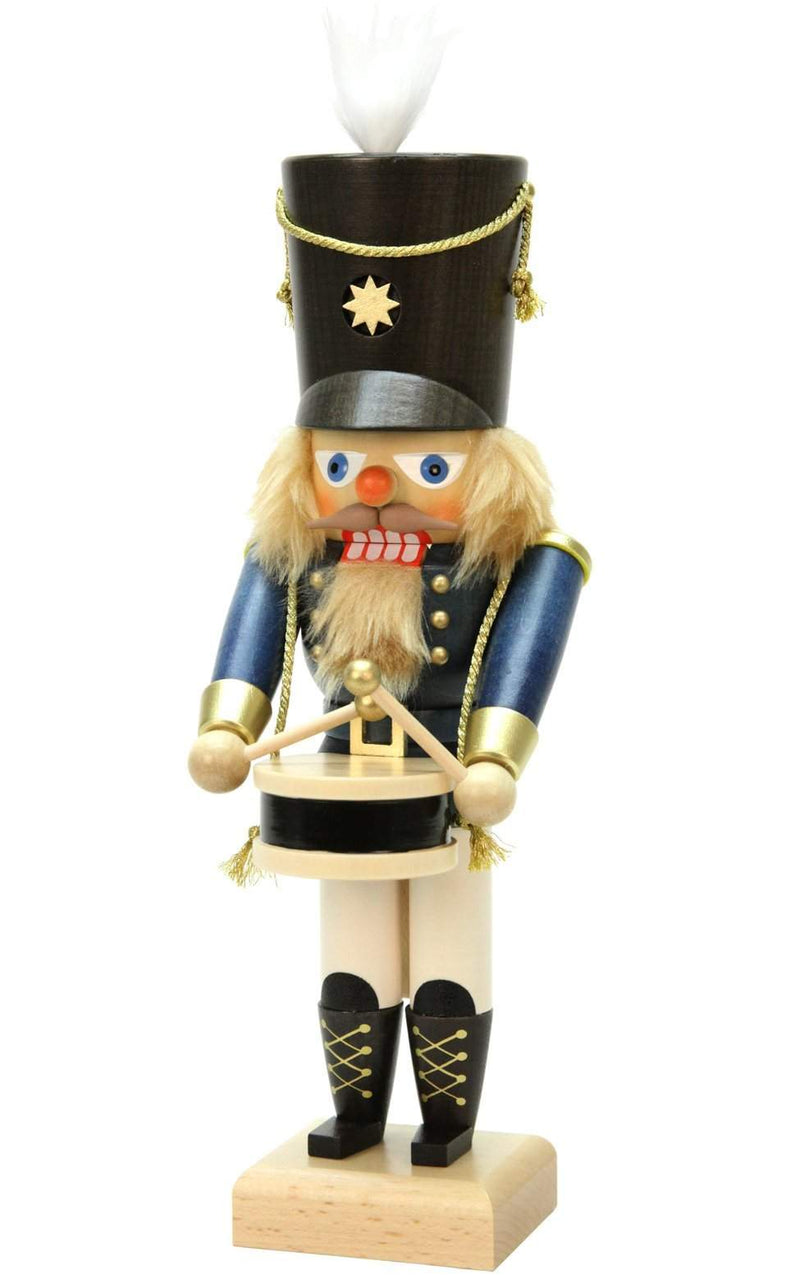"Nutcracker - Blue Drummer - 11.5""H x 4""W x 4.5""D - German Cuckoo Clocks"