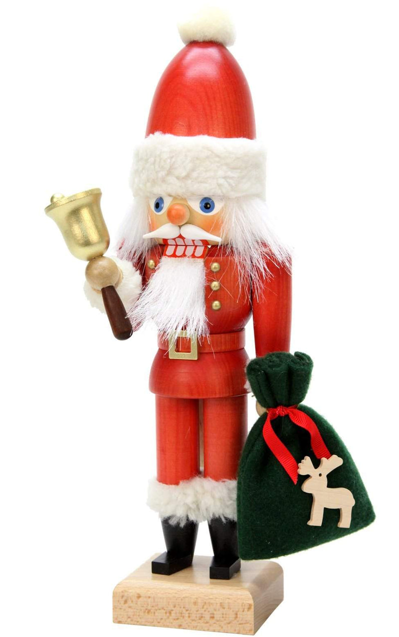"Nutcracker - Santa with Bell - 12""H x 4""W x 3""D - German Cuckoo Clocks"