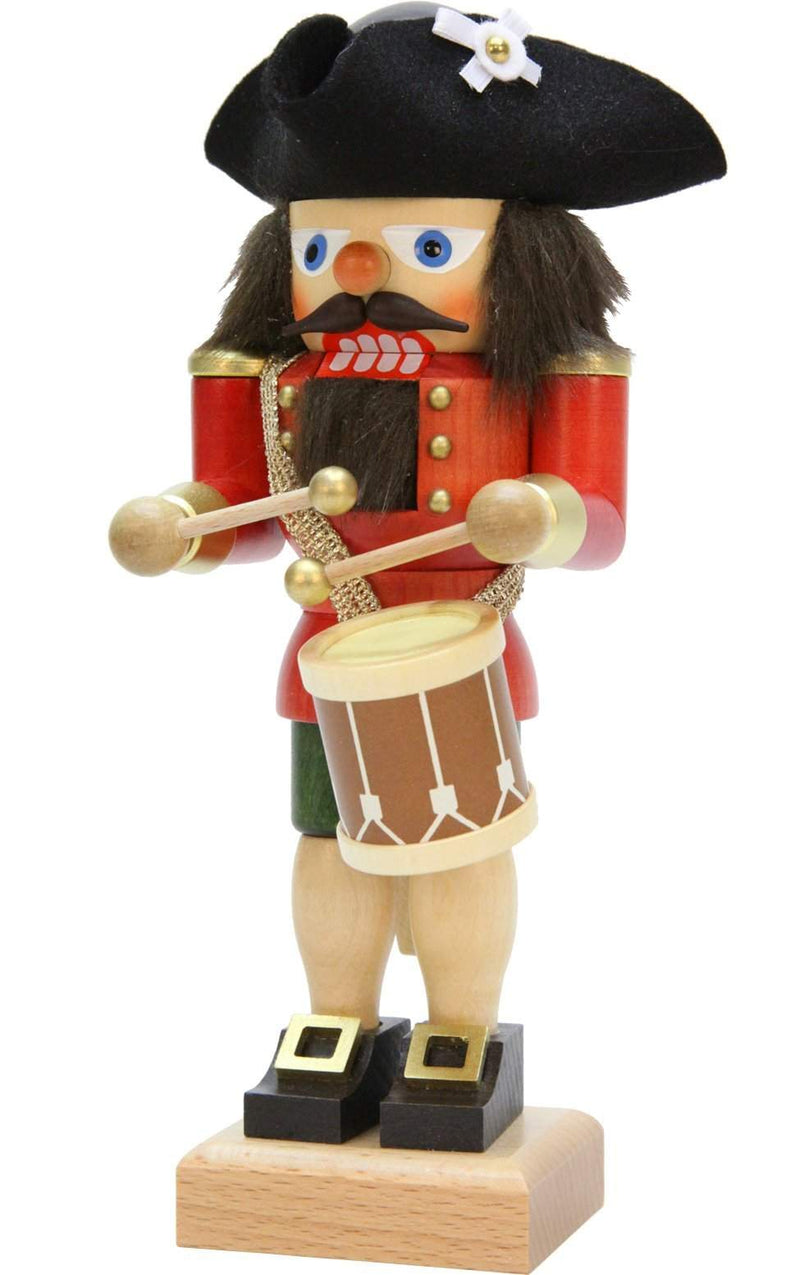 "Nutcracker - Red Drummer - 10""H x 4""W x 4""D - German Cuckoo Clocks"