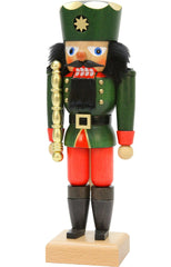 "Nutcracker - King (Green) - 10.25""H x 4""W x 3""D"