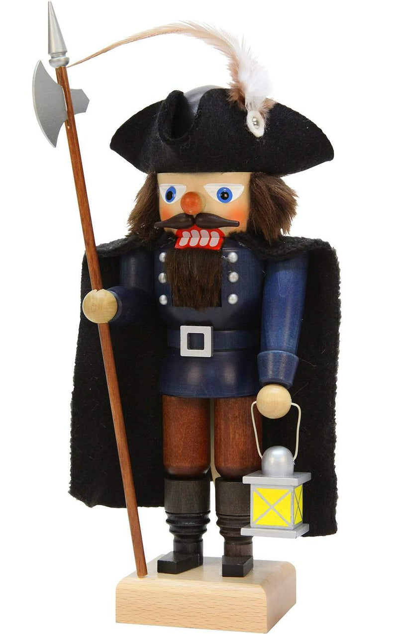 "Nutcracker - Watchman - 11.5""H x 5""W x 5""D - German Cuckoo Clocks"