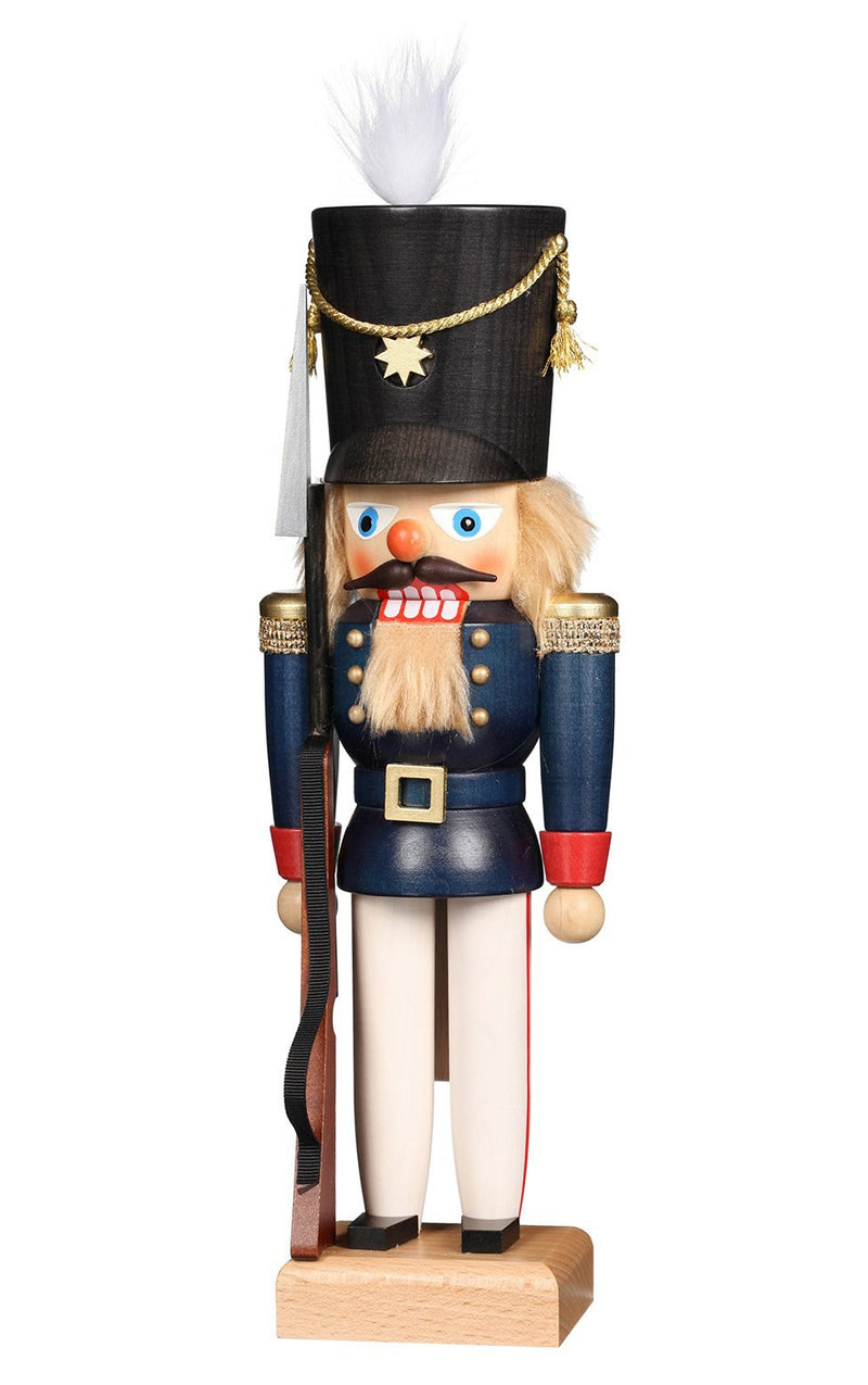 "Nutcracker - Soldier in Blue - 12""H x 4""W x 3.5""D"