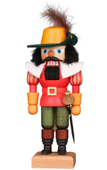 "Real German Nutcracker - Musketeer in Red - 9.6""H x 3.9""W x 3.9""D"