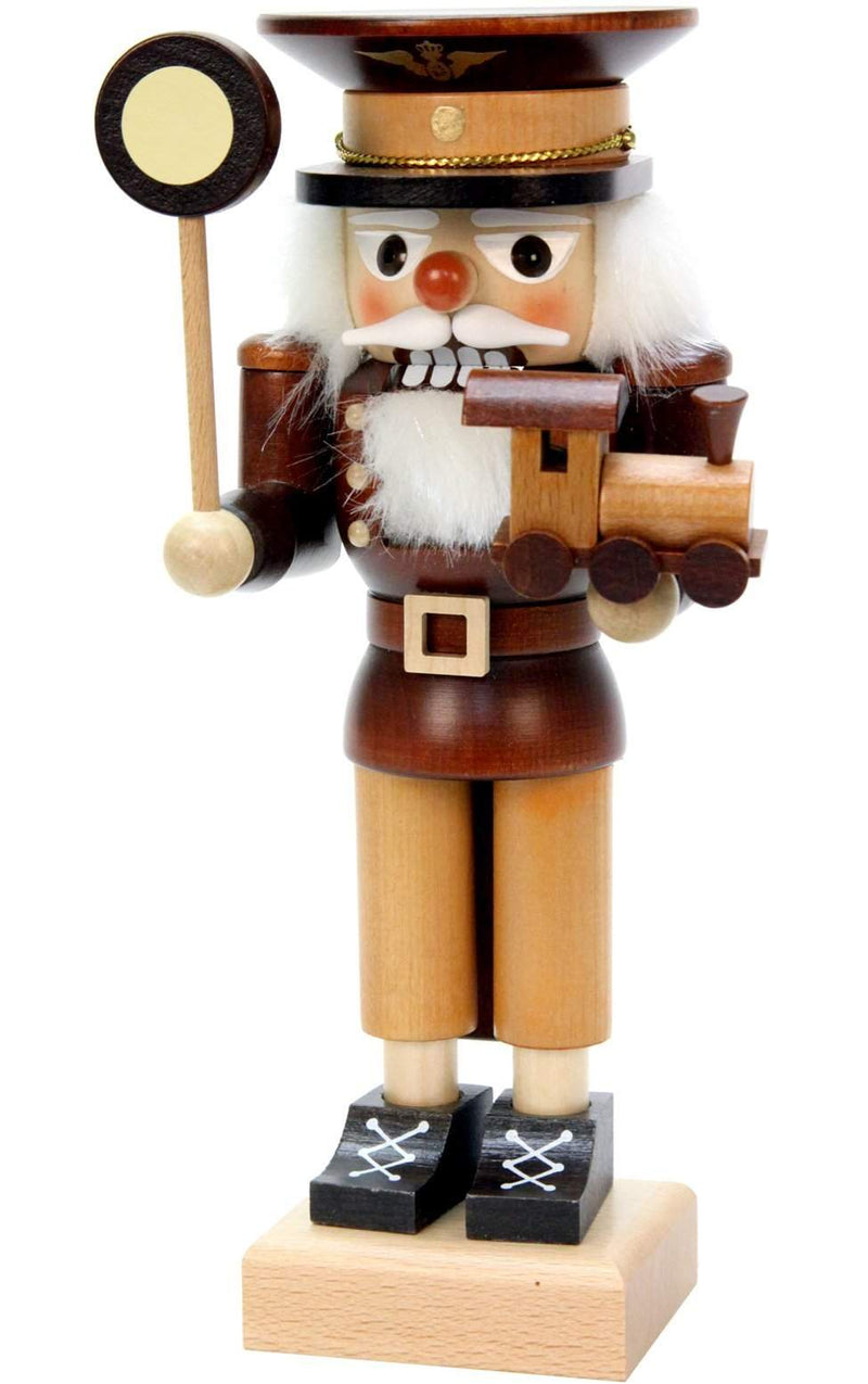 "Nutcracker - Conductor (Natural) - 9.5""H x 4""W x 3.5""D - German Cuckoo Clocks"