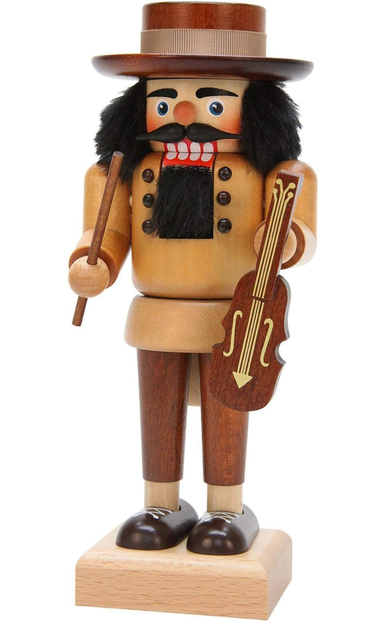 "Nutcracker - Violinist (Natural) - 10""H x 4""W x 4""D - German Cuckoo Clocks"