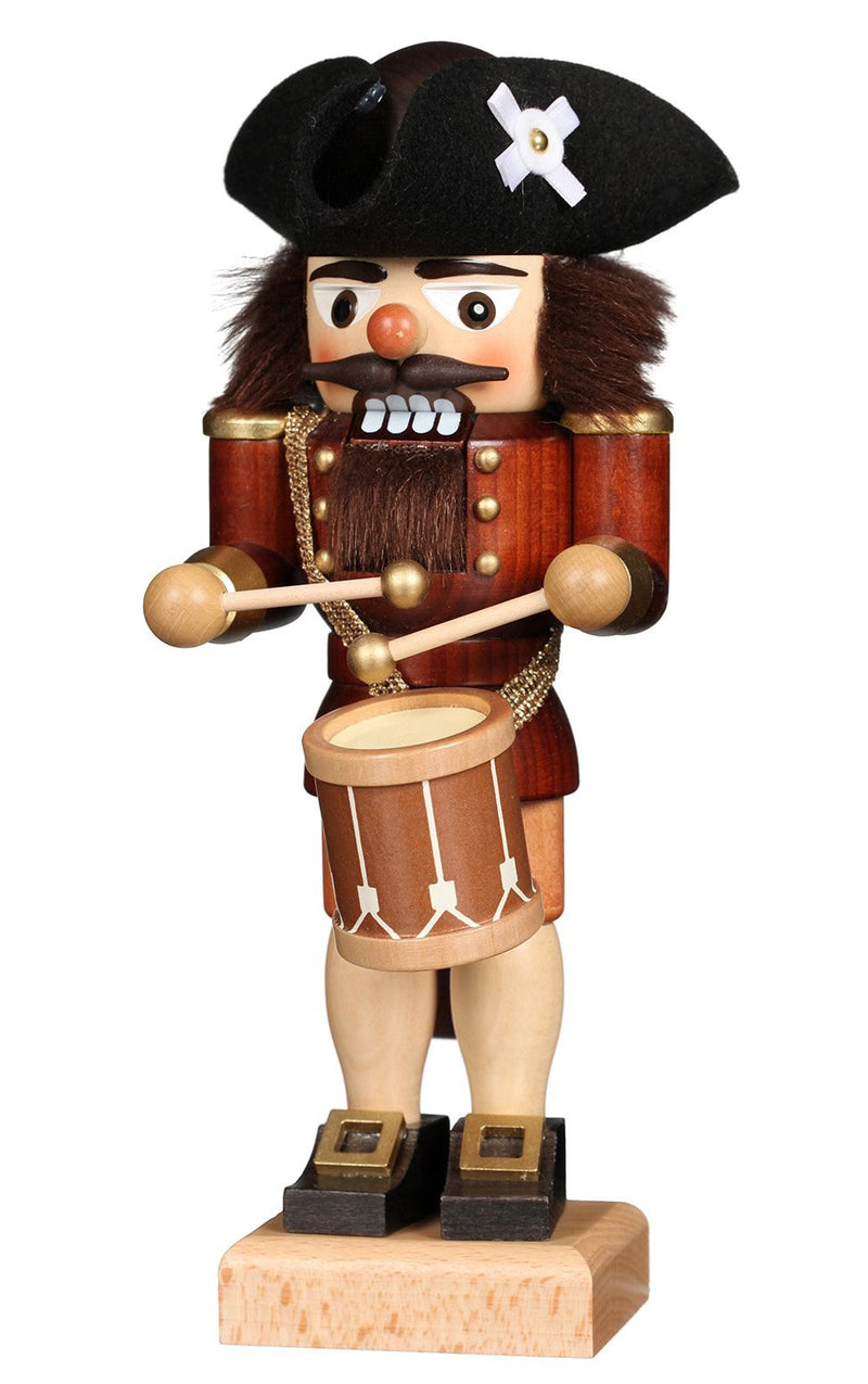 "Nutcracker - Drummer Natural - 9.8""H x 3.75""W x 3""D"