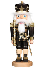 "Nutcracker - King in Black - 16.3""H x 6.5""W x 5.25""D"