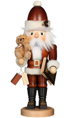 "Nutcracker - Santa with Teddy - 18""H x 6.75""W x 5.5""D - German Cuckoo Clocks"