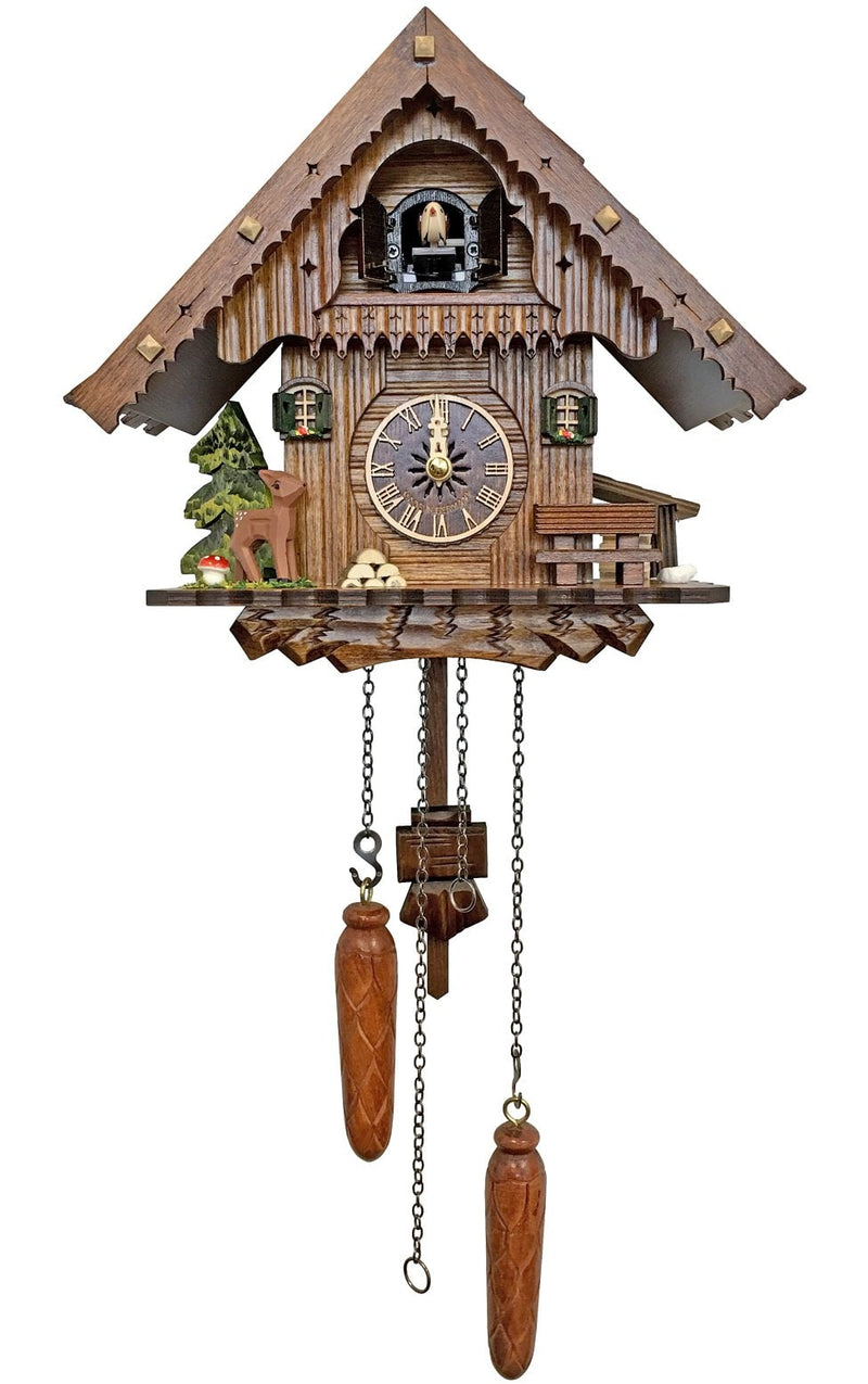 "Battery-operated Cuckoo Clock - Full Size - - 9""H x 10""W x 6""D - German Cuckoo Clocks"