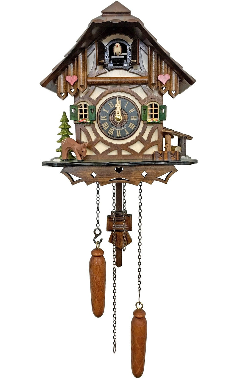 "Battery-operated Cuckoo Clock - Full Size - 9""H x 8.25""W x 6.25""D"