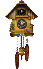 "Battery-operated Cuckoo Clock - Full Size - 8.5""H x 7.75""W x 5.5""D - German Cuckoo Clocks"