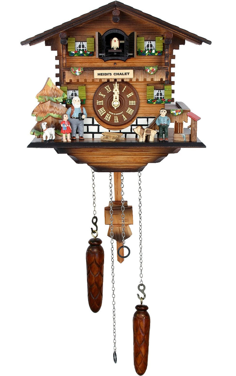 "Battery-operated Cuckoo Clock - Full Size - 8.25""H x 9""W x 6""D - German Cuckoo Clocks"