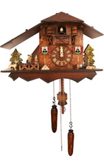 "Battery-operated Cuckoo Clock - Full Size - 9.5""H x 14""W x 6.5""D - German Cuckoo Clocks"