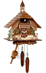 "Battery-operated Cuckoo Clock - Full Size - 12""H x 9.25""W x 6""D - German Cuckoo Clocks"