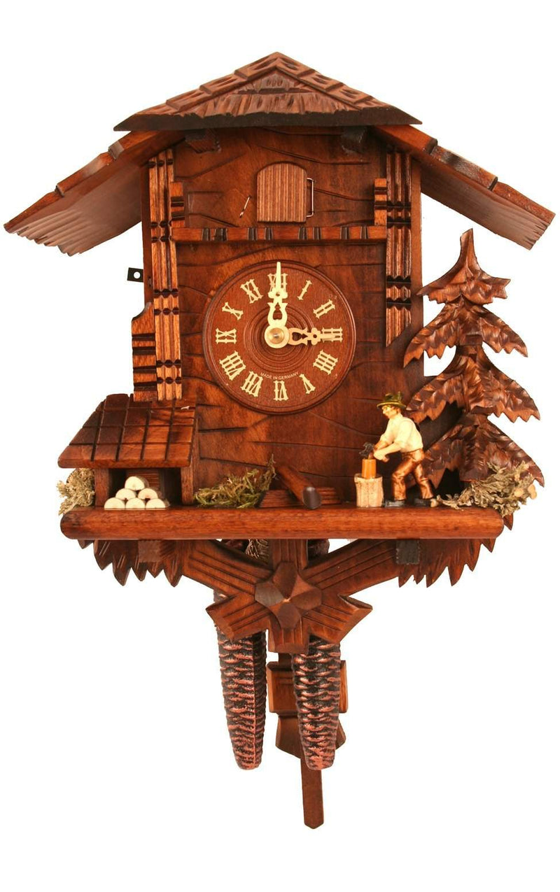 "Weight-driven Cuckoo Clock - Full Size - 10.5""H x 9.5""W x 6.25""D - German Cuckoo Clocks"