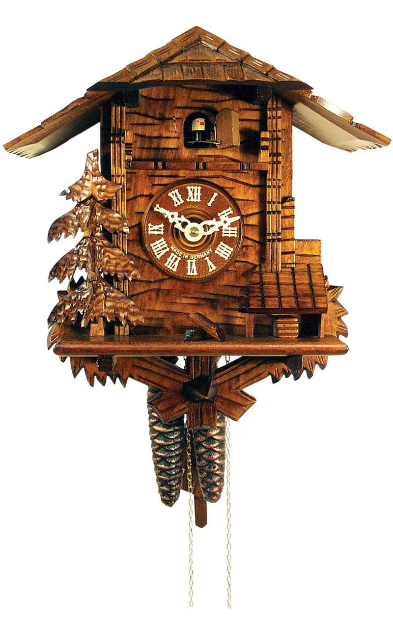 "Weight-driven Cuckoo Clock - Full Size - 11""H x 10.75""W x 6.25""D - German Cuckoo Clocks"