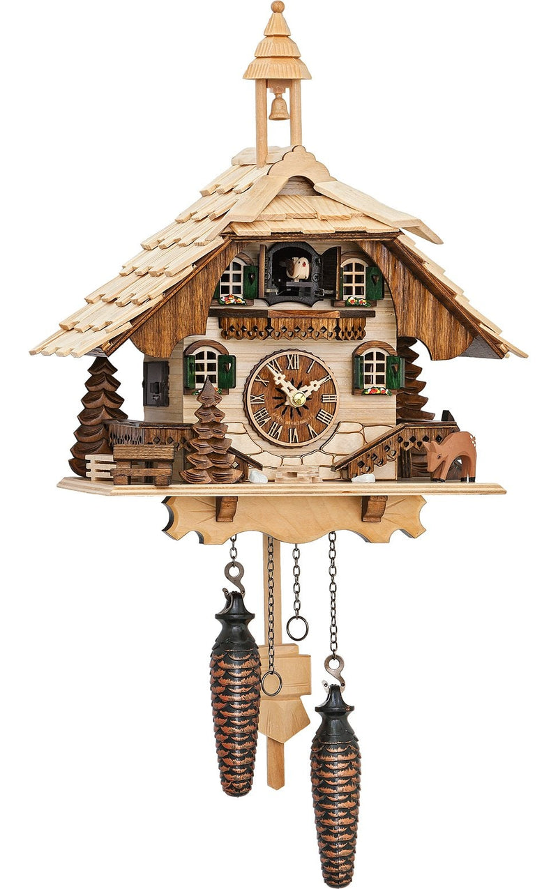 "Battery-operated Cuckoo Clock - Full Size - 9.5""H x 9.5""W x 6.5""D - German Cuckoo Clocks"