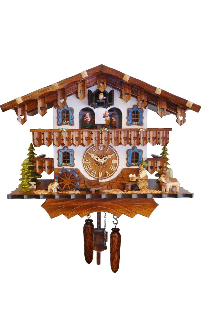 "Battery-operated Cuckoo Clock - Full Size - 12.5""H x 15""W x 8""D - German Cuckoo Clocks"