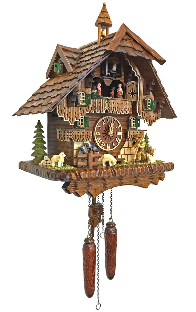 "Battery-operated Cuckoo Clock - Full Size - 14""H x 14""W x 9""D - German Cuckoo Clocks"