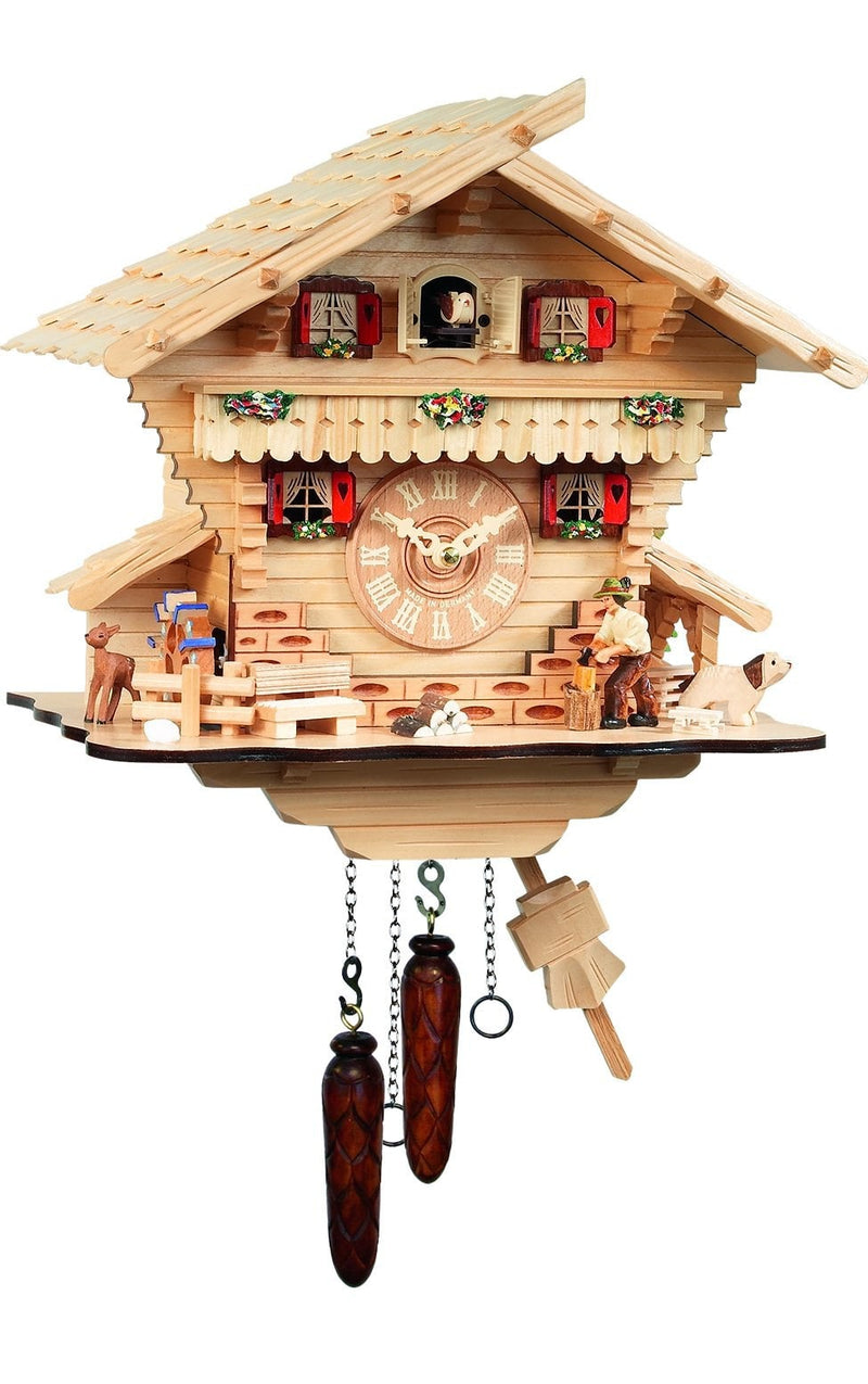 "Battery-operated Cuckoo Clock - Full Size - 13.375""H x 10""W"" X 6""D - German Cuckoo Clocks"