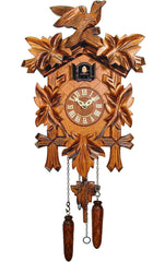 "Battery-operated Cuckoo Clock - Full Size - 13.5""H x 9.5""W x 6.5""D - German Cuckoo Clocks"