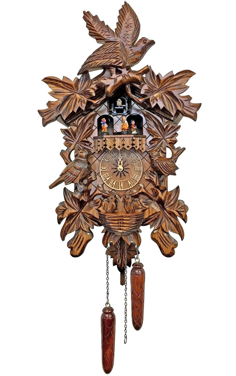 "Battery-operated Cuckoo Clock - Full Size - 18""H x 12""W x 7.5""D - German Cuckoo Clocks"