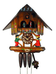 Cuckoo Clock 1-day Musical Chalet Dancers 11 Inch by August Schwer