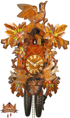 Cuckoo Clock 8-day-movement Carved-Style 39cm by August Schwer - German Cuckoo Clocks