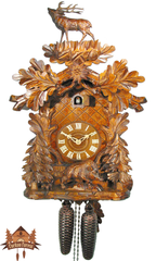 Cuckoo Clock 8-day-movement Carved-Style 53cm by August Schwer - German Cuckoo Clocks