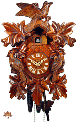 traditional carved cuckoo clock black forest