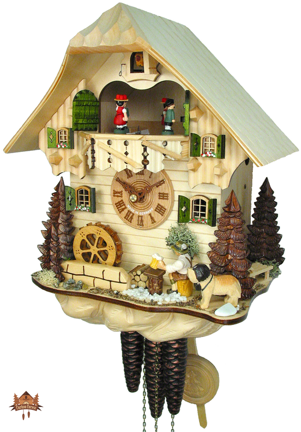 Cuckoo Clock 1-day-movement Chalet-Style 32cm by August Schwer - German Cuckoo Clocks