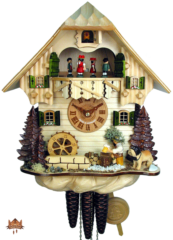 Cuckoo Clock 1-day-movement Chalet-Style 32cm by August Schwer