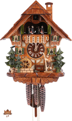 Cuckoo Clock 1-day-movement Chalet-Style 34cm by August Schwer - German Cuckoo Clocks