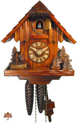 Cuckoo Clock 1-day-movement Chalet-Style 23cm by August Schwer - German Cuckoo Clocks