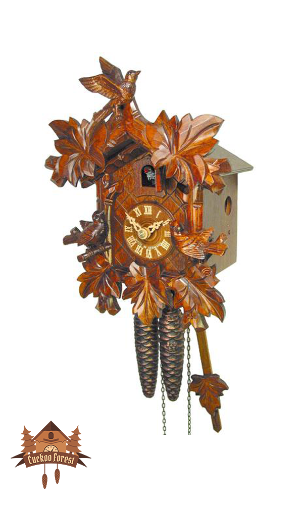 Cuckoo Clock 1-day-movement Carved-Style 23cm by August Schwer - German Cuckoo Clocks