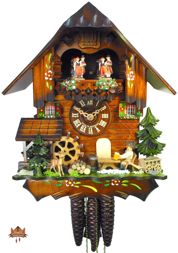 Cuckoo Clock 1-day-movement Chalet-Style 31cm by August Schwer - German Cuckoo Clocks