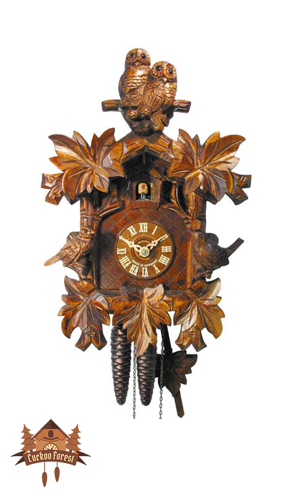 Cuckoo Clock 1-day-movement Carved-Style 32cm by August Schwer - German Cuckoo Clocks