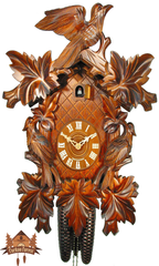 Cuckoo Clock 8-day-movement Carved-Style 50cm by August Schwer - German Cuckoo Clocks