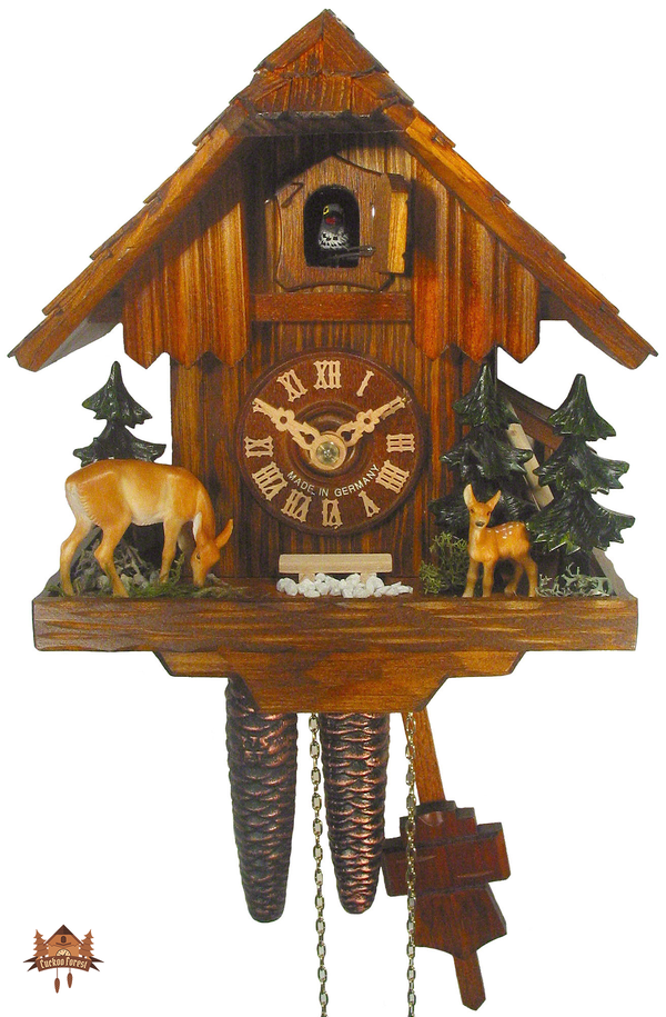 Cuckoo Clock 1-day-movement Chalet-Style 21cm by August Schwer - German Cuckoo Clocks