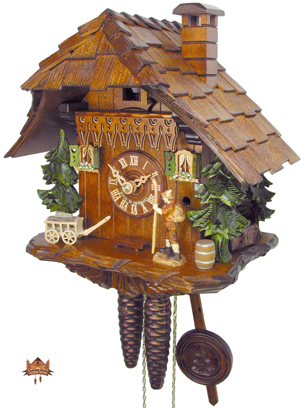 Cuckoo Clock 1-day-movement Chalet-Style 25cm by August Schwer - German Cuckoo Clocks