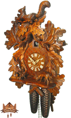 Cuckoo Clock 8-day-movement Carved-Style 37cm by August Schwer - German Cuckoo Clocks